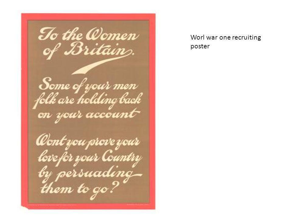 Worl war one recruiting poster
