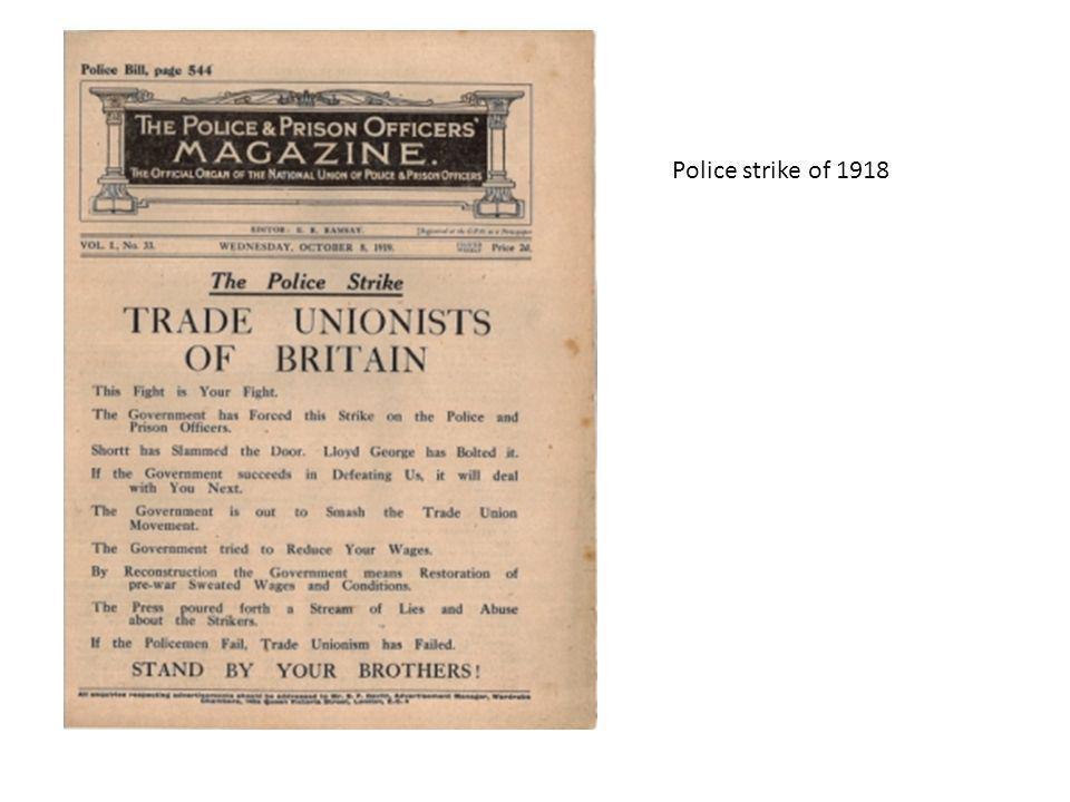 Police strike of 1918
