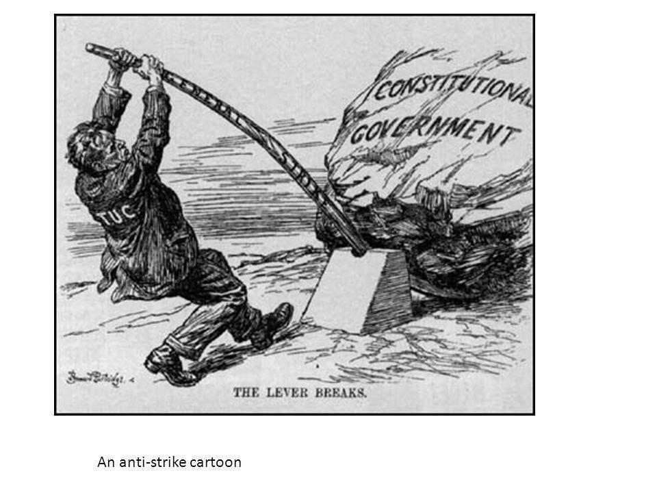 An anti-strike cartoon