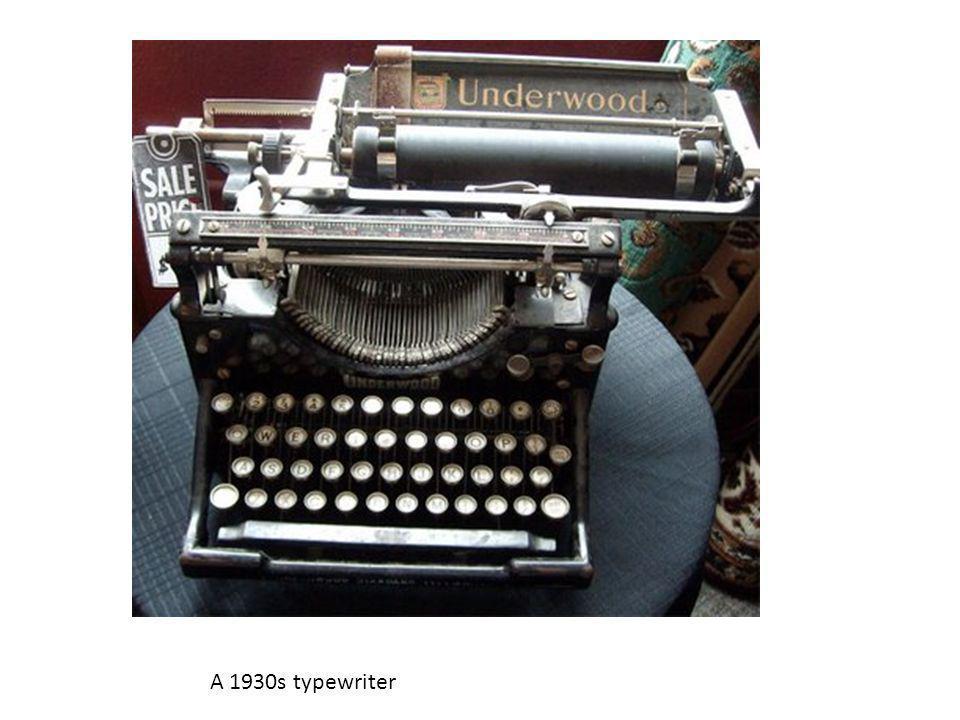 A 1930s typewriter