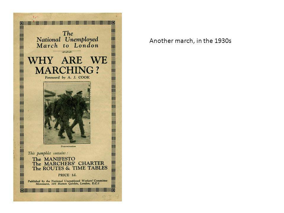 Another march, in the 1930s