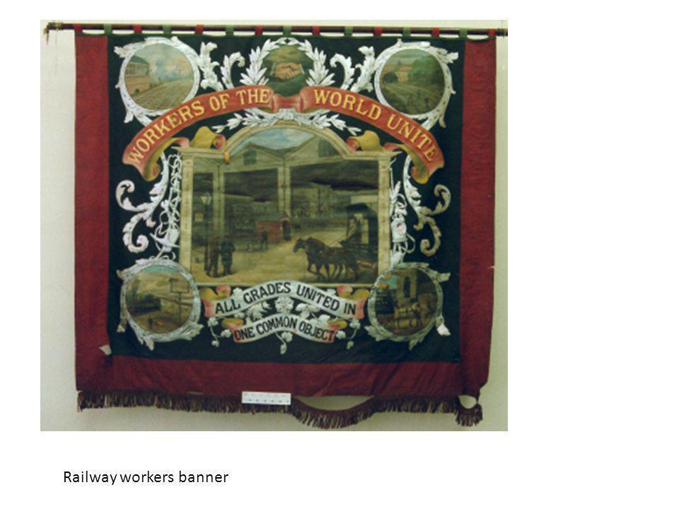 Railway workers banner