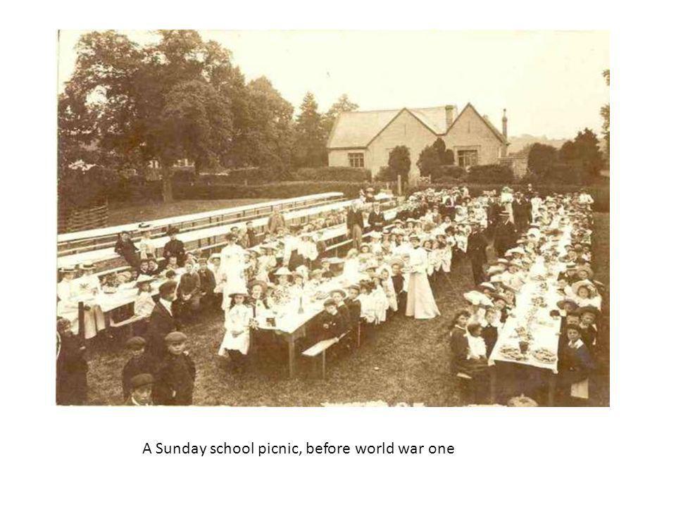 A Sunday school picnic, before world war one
