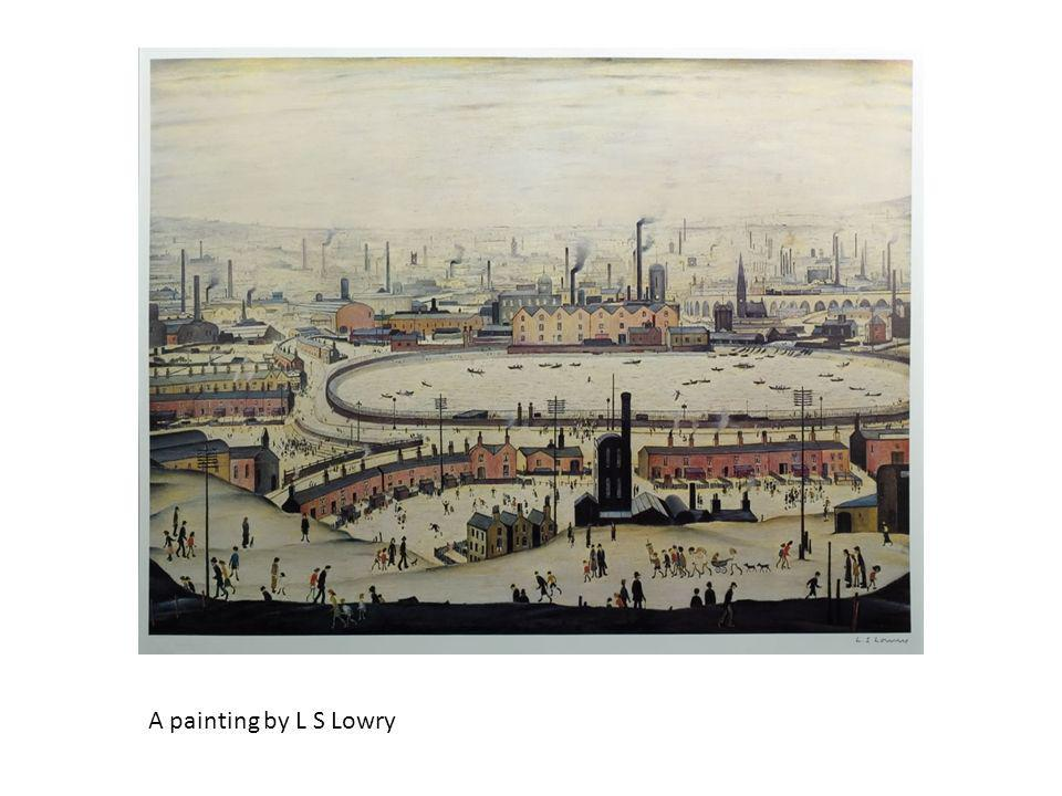 A painting by L S Lowry