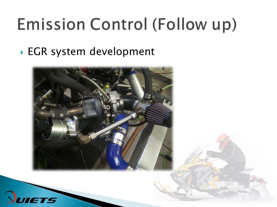 EGR system development