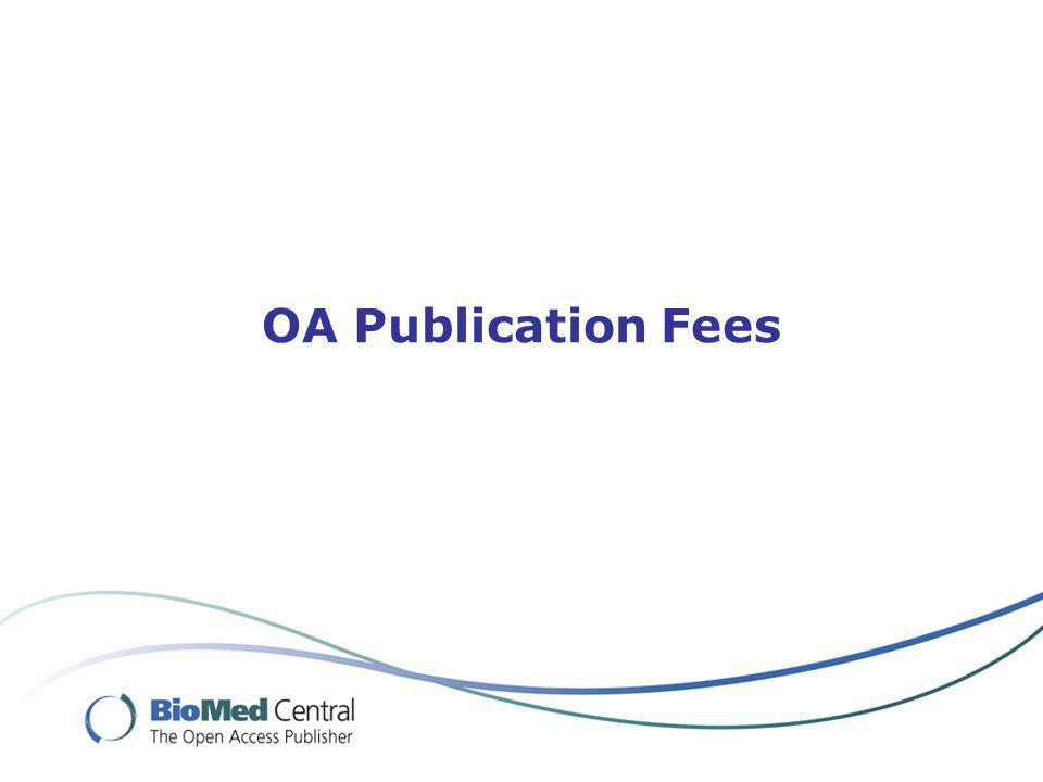 OA Publication Fees