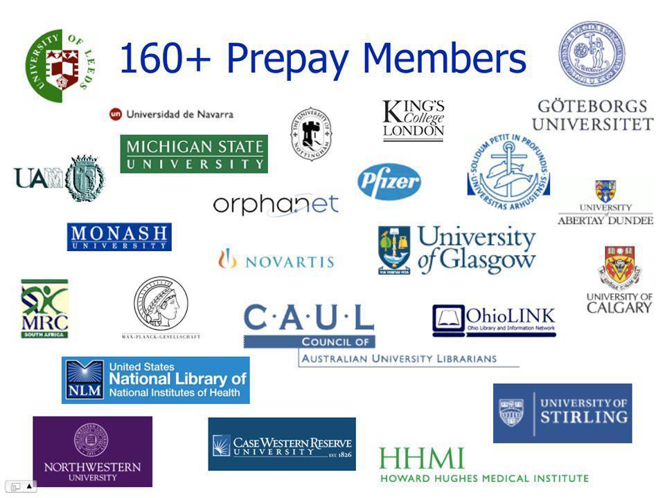 160+ Prepay Members