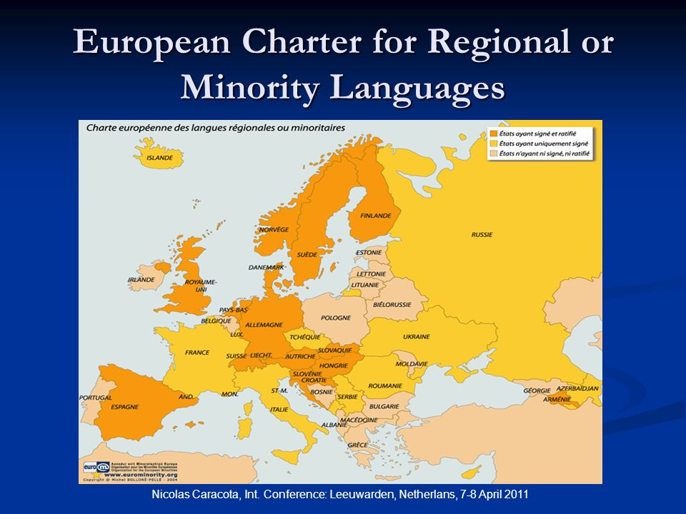 European Charter for Regional or Minority Languages Nicolas Caracota, Int.