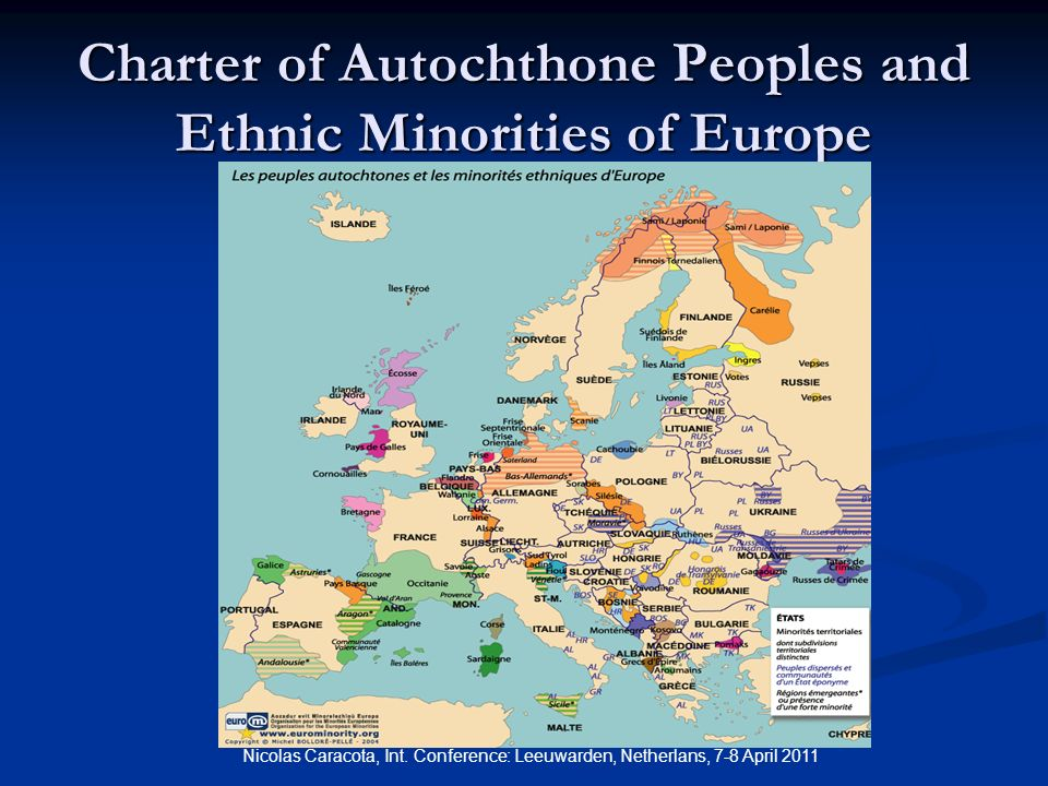 Charter of Autochthone Peoples and Ethnic Minorities of Europe Nicolas Caracota, Int.