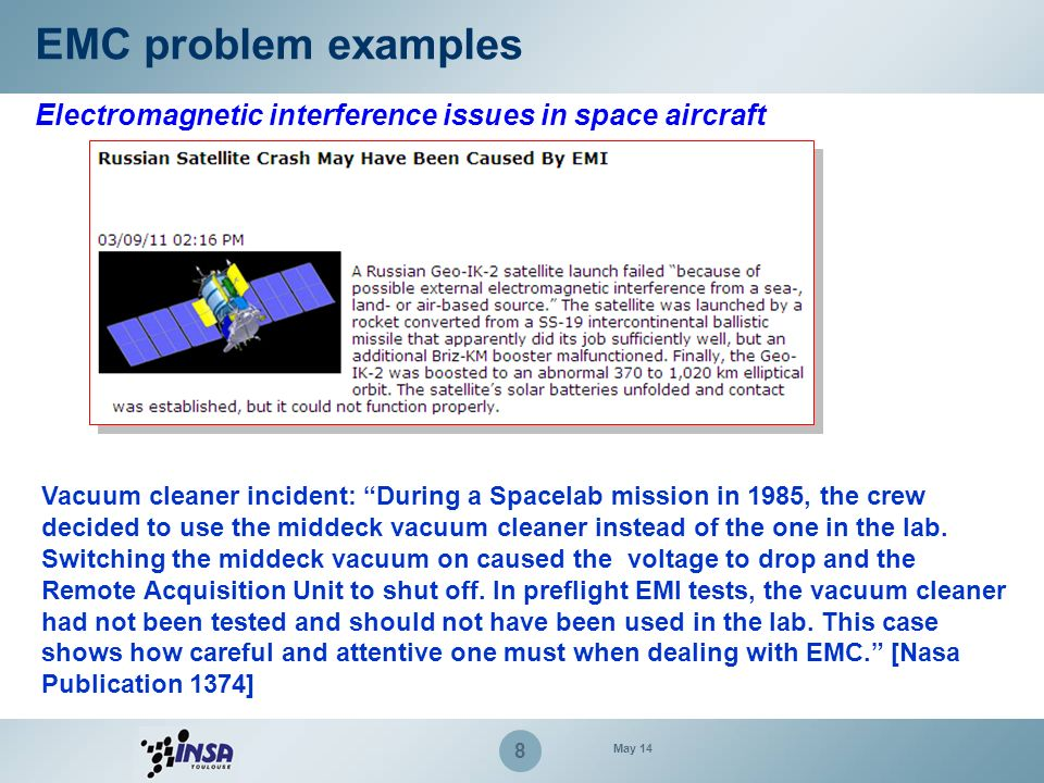 39 EMC measurement for electronic systems Example of emission measurements May 14 Radiated emission at 3 meters (FCC certification) – Peak detector