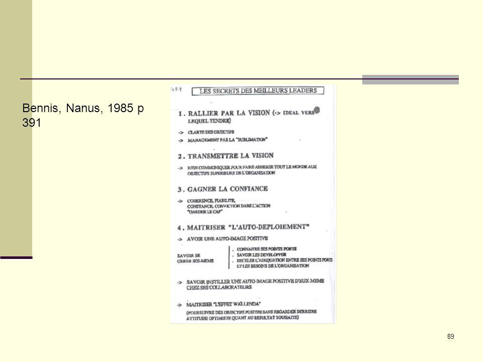 89 Bennis, Nanus, 1985 p 391