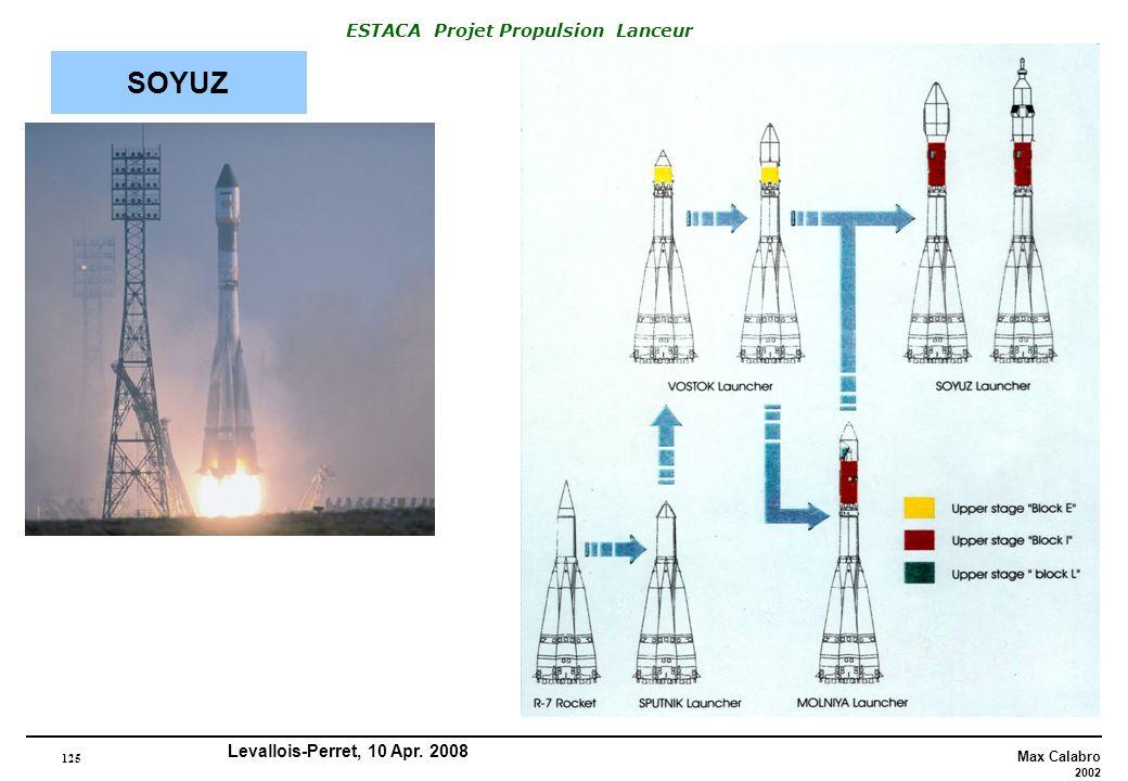 125 Max Calabro 2002 ESTACA Projet Propulsion Lanceur Levallois-Perret, 10 Apr. 2008 SOYUZ