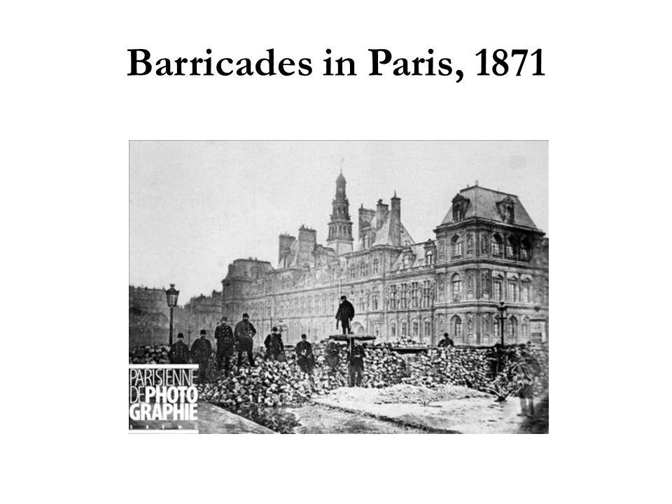 Barricades in Paris, 1871