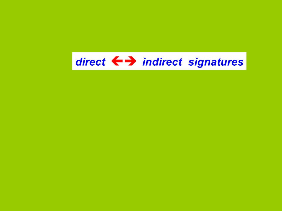 direct indirect signatures