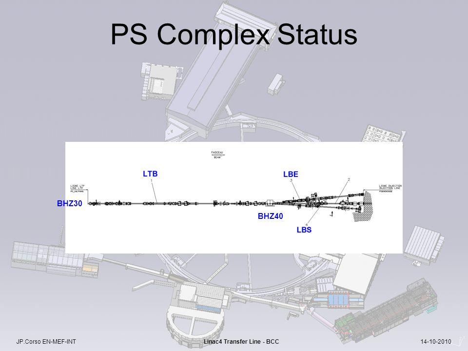 JP.Corso EN-MEF-INT Linac4 Transfer Line - BCC 14-10-2010 PS Complex Status BHZ40 BHZ30