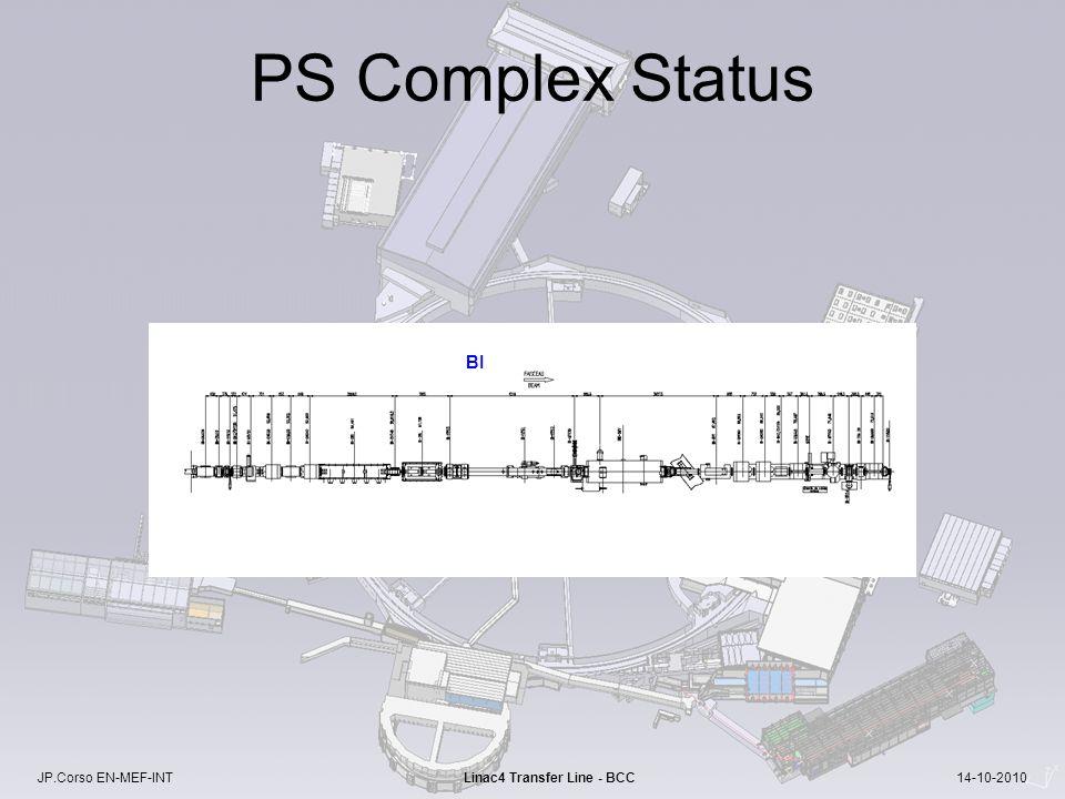 JP.Corso EN-MEF-INT Linac4 Transfer Line - BCC 14-10-2010 PS Complex Status BI
