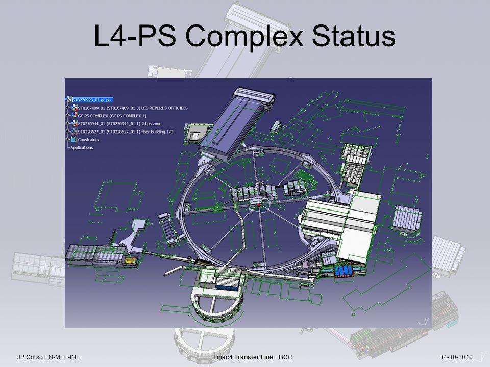 JP.Corso EN-MEF-INT Linac4 Transfer Line - BCC 14-10-2010 L4-PS Complex Status