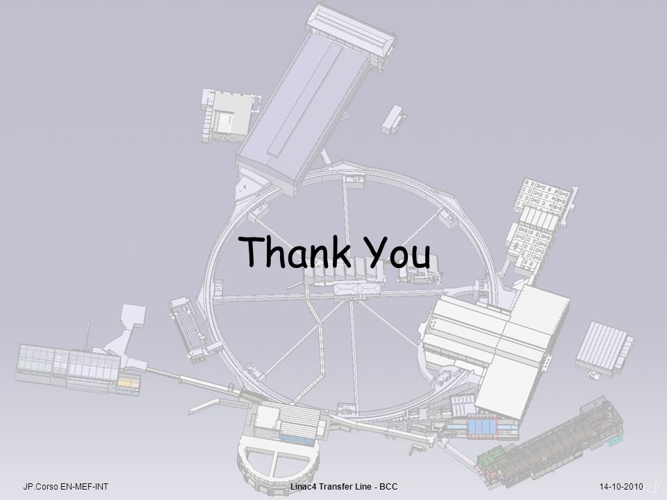 JP.Corso EN-MEF-INT Linac4 Transfer Line - BCC 14-10-2010 Thank You