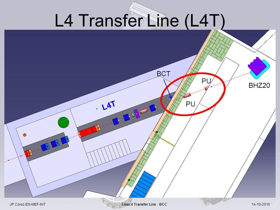 JP.Corso EN-MEF-INT Linac4 Transfer Line - BCC 14-10-2010 L4 Transfer Line (L4T) BHZ20 PU BCT L4T