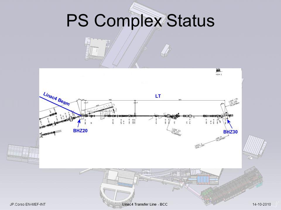 JP.Corso EN-MEF-INT Linac4 Transfer Line - BCC 14-10-2010 PS Complex Status