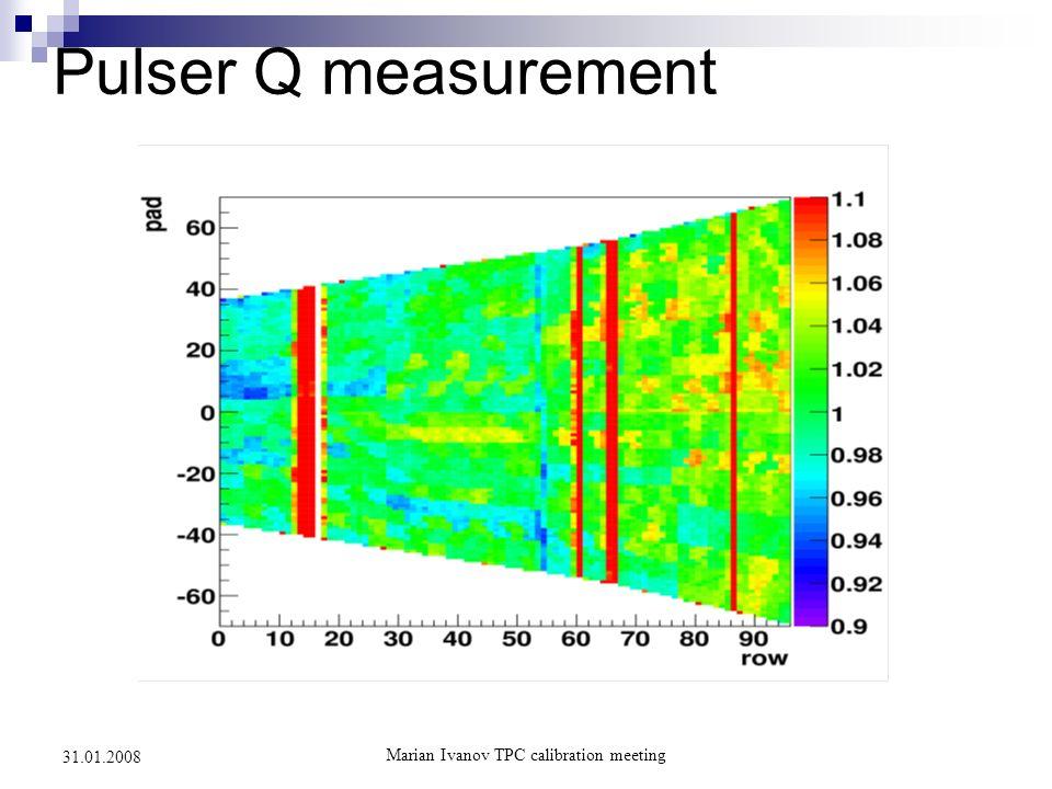Marian Ivanov TPC calibration meeting 31.01.2008 Pulser Q measurement