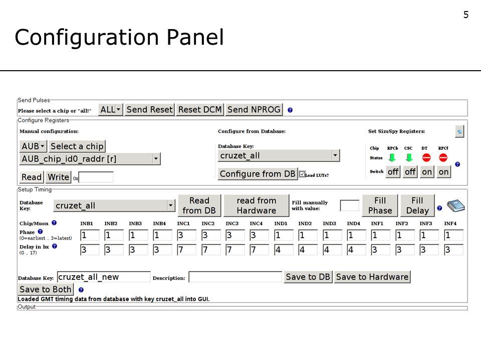 5 Configuration Panel