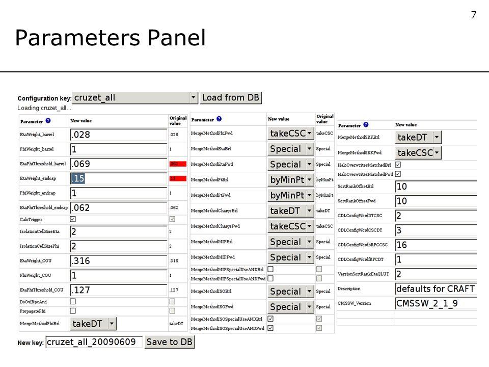 7 Parameters Panel