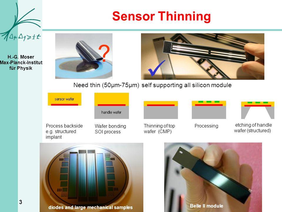 H.-G. Moser Max-Planck-Institut für Physik 3 Sensor Thinning .