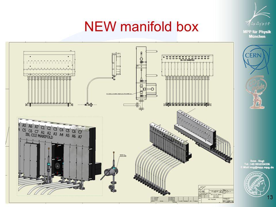 MPP für Physik München Sven.Vogt Tel.:+49 8932354336 E-Mail:vog@mpp.mpg.de NEW manifold box 13