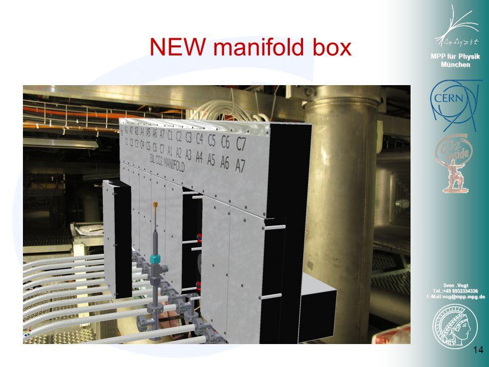 MPP für Physik München Sven.Vogt Tel.:+49 8932354336 E-Mail:vog@mpp.mpg.de 14 NEW manifold box