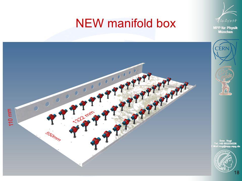 MPP für Physik München Sven.Vogt Tel.:+49 8932354336 E-Mail:vog@mpp.mpg.de NEW manifold box 18
