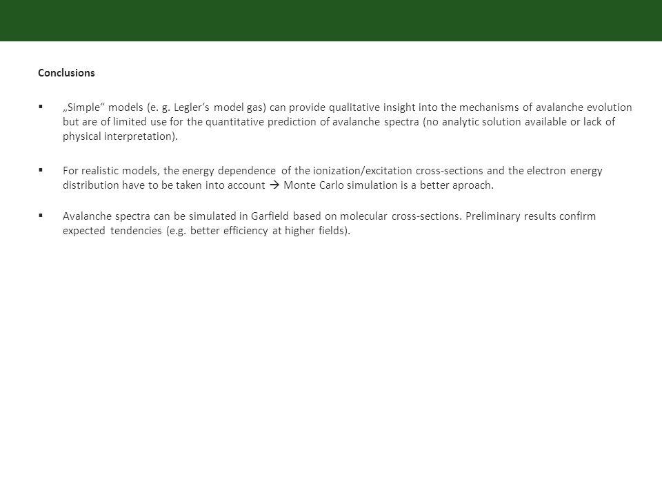 Conclusions Simple models (e. g.