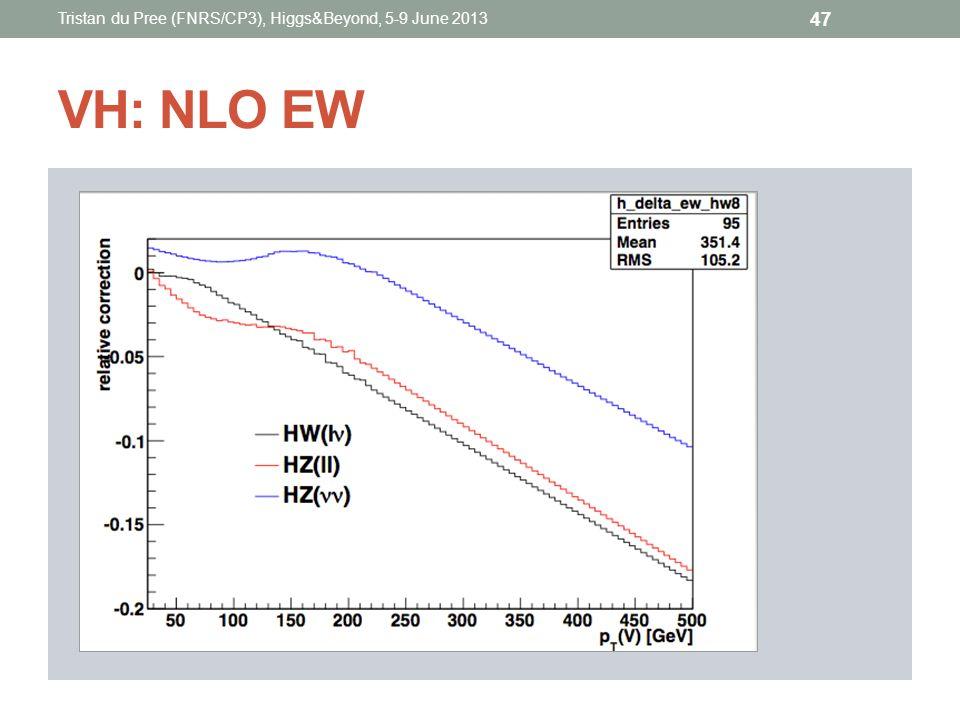 VH: NLO EW Tristan du Pree (FNRS/CP3), Higgs&Beyond, 5-9 June 2013 47