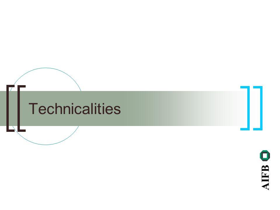 AIFB Technicalities