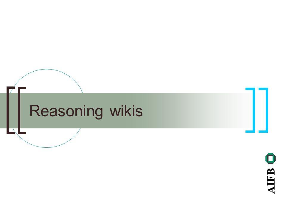AIFB Reasoning wikis