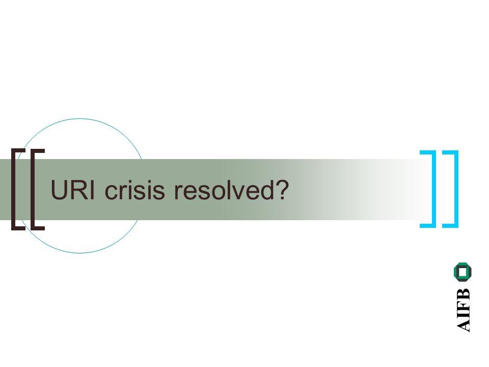 AIFB URI crisis resolved?