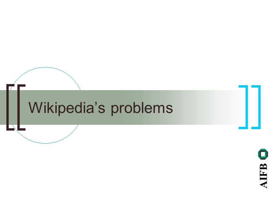 AIFB Wikipedias problems