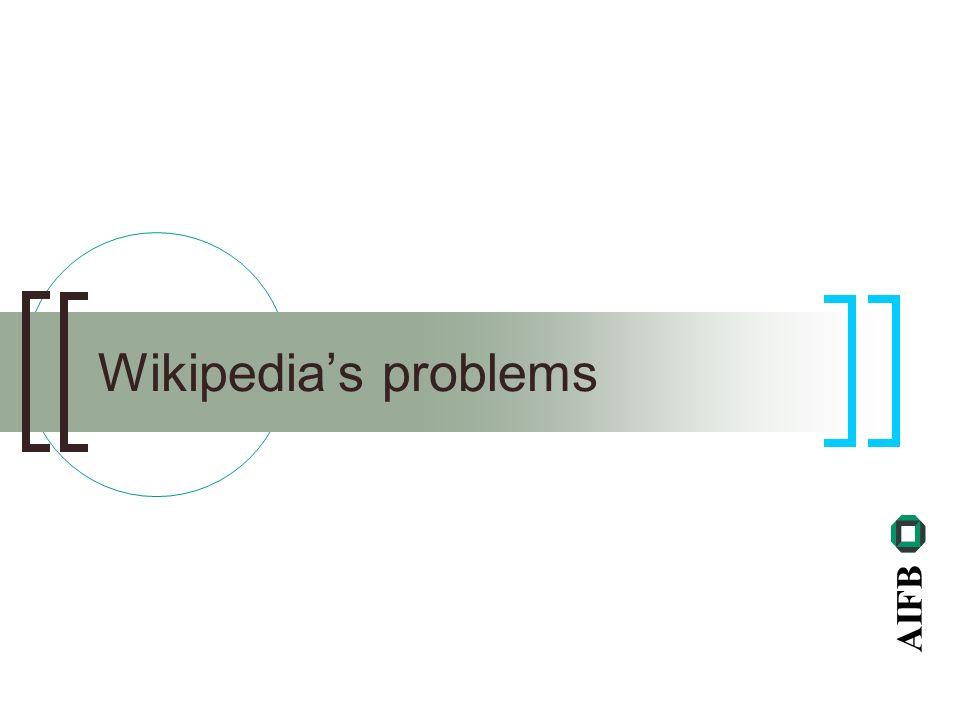 AIFB Wikipedias problems