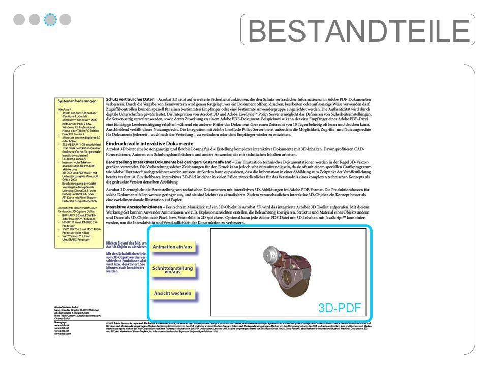 BESTANDTEILE 3D-PDF