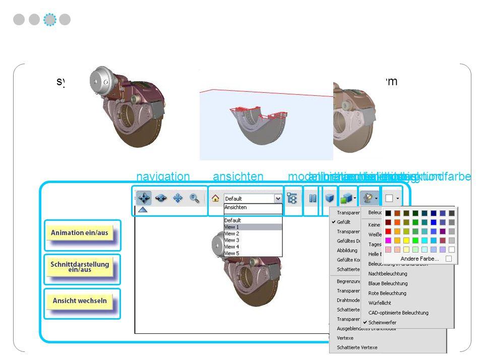 navigationansichtenmodellhierarchieanimation ein/ausorthogonale projektionrender-modusbelichtunghintergrundfarbe symbole ° drehen ° drehen horizont. °