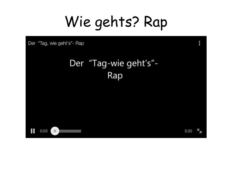 Wie gehts Rap
