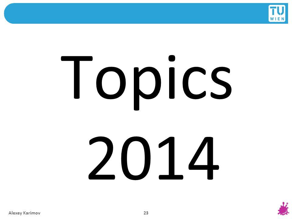 Topics 2014 Alexey Karimov 23