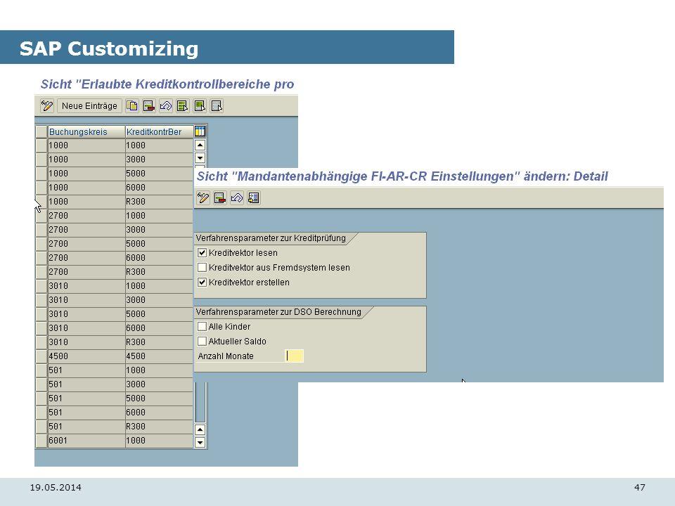 19.05.201447 SAP Customizing