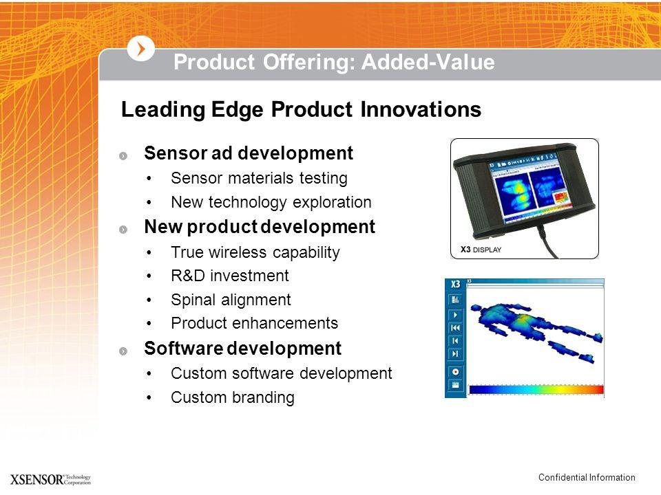 Confidential Information Sensor ad development Sensor materials testing New technology exploration New product development True wireless capability R&