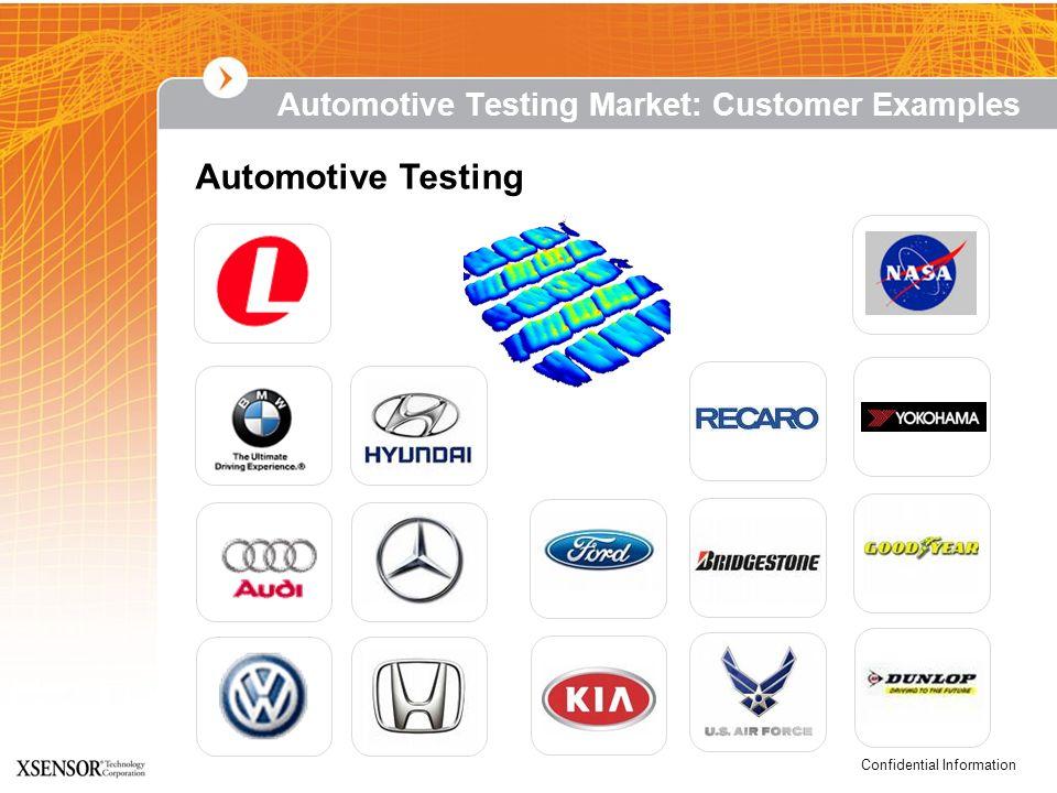 Confidential Information Automotive Testing Automotive Testing Market: Customer Examples