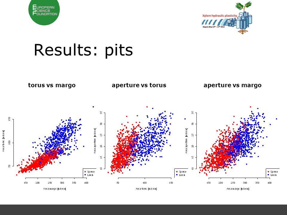 Results: pits torus vs margoaperture vs torusaperture vs margo