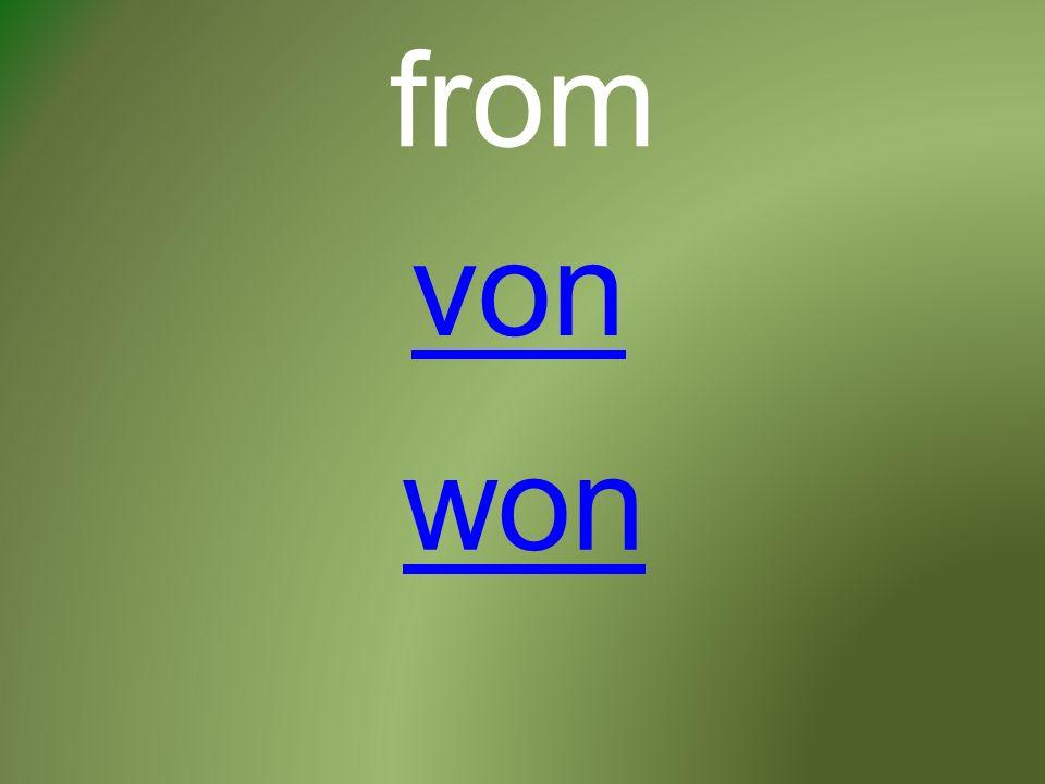 from von won