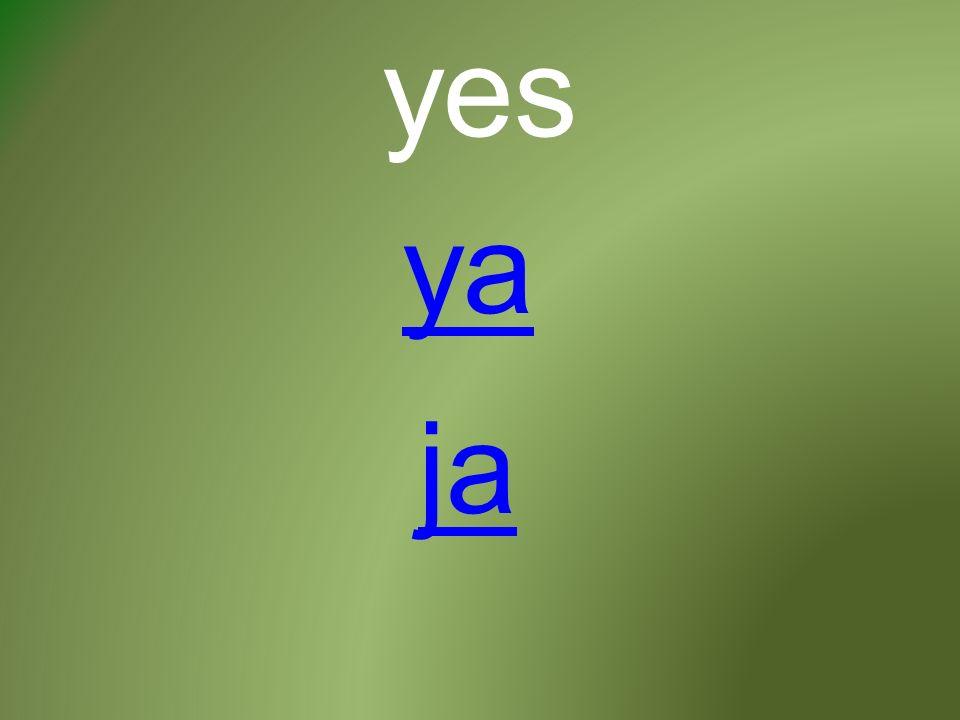 yes ja ya