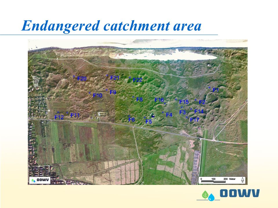 Endangered catchment area