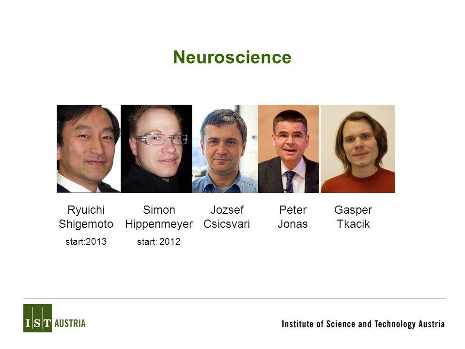 Neuroscience Jozsef Csicsvari Peter Jonas Gasper Tkacik Simon Hippenmeyer start: 2012 Ryuichi Shigemoto start:2013